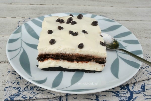 Creamy Oreo Dessert (a.k.a Chocolate Lasagna) - This is the easiest, creamiest Oreo Dessert EVER and perfect to take to a family gathering or party.