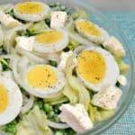 Pea, Egg and Feta Salad