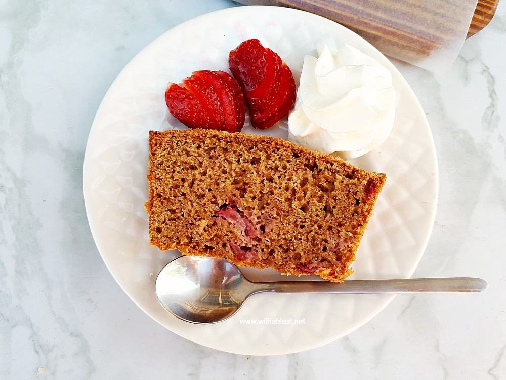 Strawberry Cinnamon Bread is always a hit for dessert or as a tea time treat - soft, moist and so fruity ! Quick, easy everyday pantry ingredients