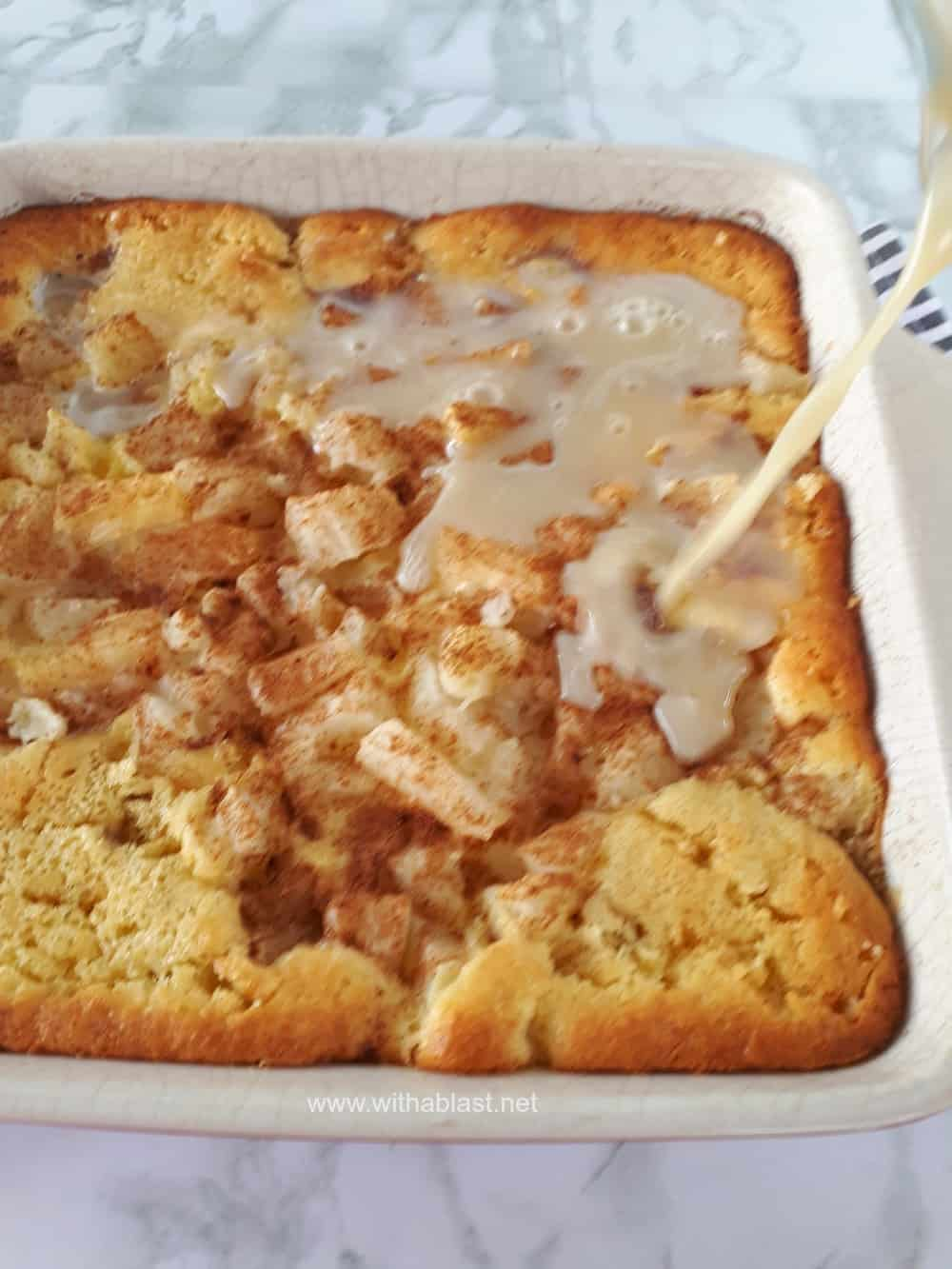 This is the best Apple and Pineapple Cake Tart around ! Perfect Fall, Thanksgiving dessert and so easy to make too