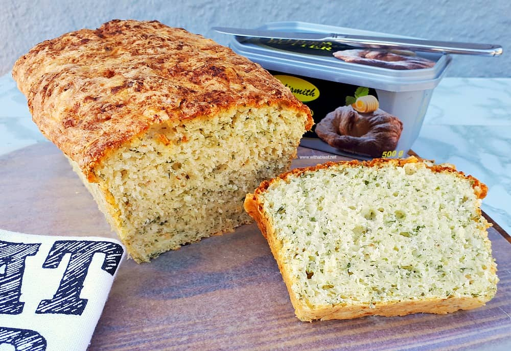 Herb And Cheese Bread (Mix-N-Bake) is soft and fluffy. The perfect bread to serve with soup as well as with any sandwich savory fillings.