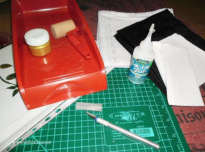 Stencilled Napkins - supplies