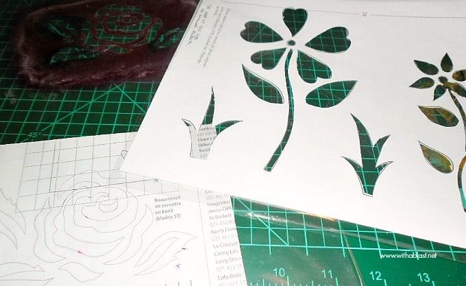 Stencilled Napkins - stencils