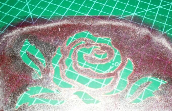 Stencilled Napkins - stencil
