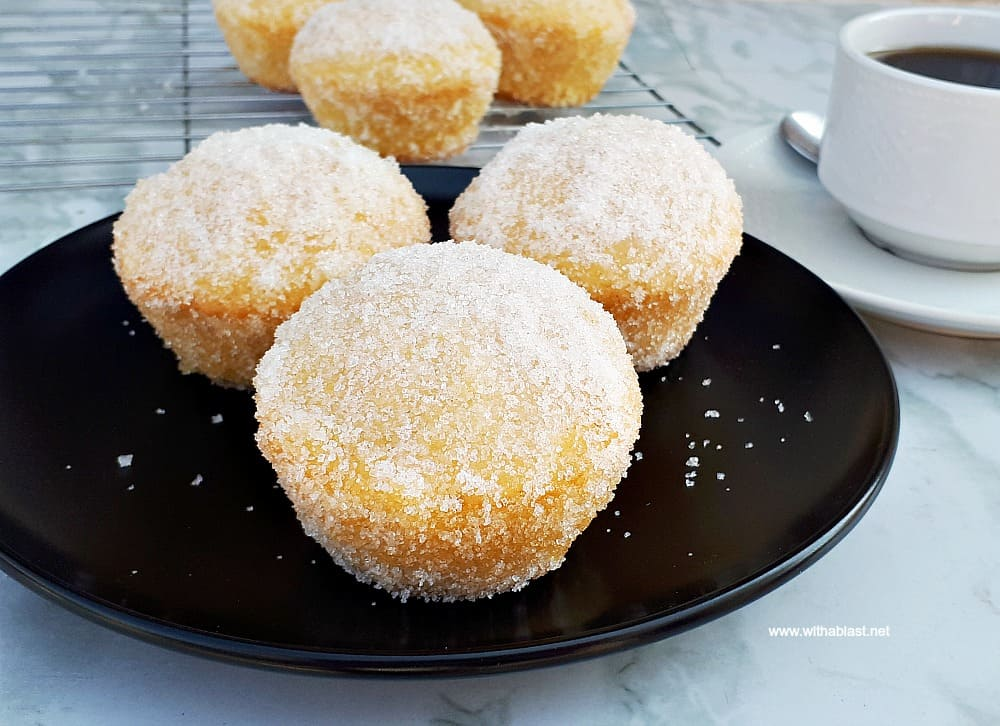 Sugar Donut Muffins are a cross between a donut and a muffin and always a winner to add to a sweet party platter - so quick and easy to make too !
