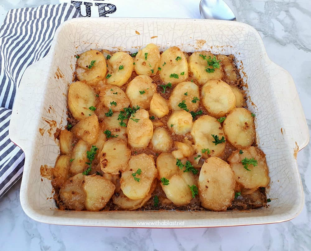 Only three ingredients needed to make this creamy, very tasty potato bake ! Brown Onion Potatoes have been a family favorite for decades