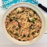 Creamy Bacon and Mushroom Spaghetti