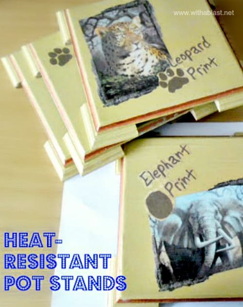 Heat-Resistant Pot Stands (DIY) - Easy mod-podge/decoupage craft and makes lovely gifts too #HeatResistant #PotStands #KitchenCraft #GiftIdea