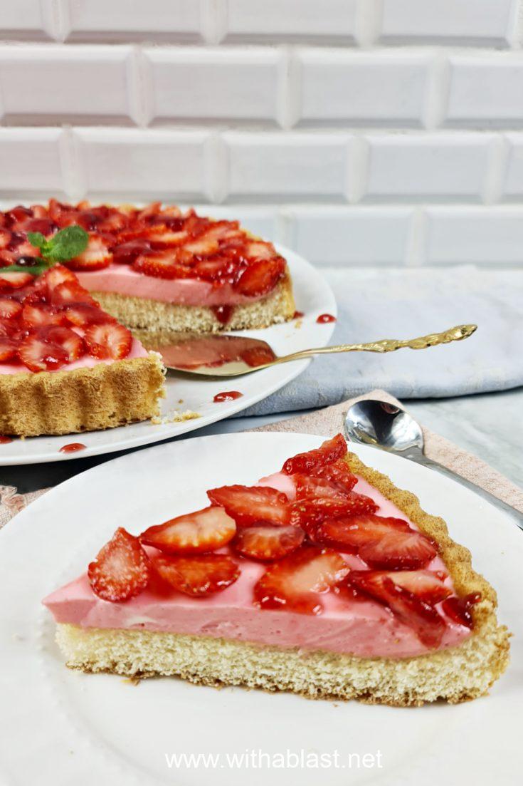 Strawberry Cream Cheese Flan