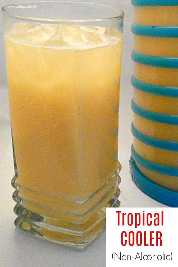A Tropical Cooler (non-alcoholic) which is so refreshing, with various fresh fruit juices as well as a hint of coconut [perfect drink for any age]