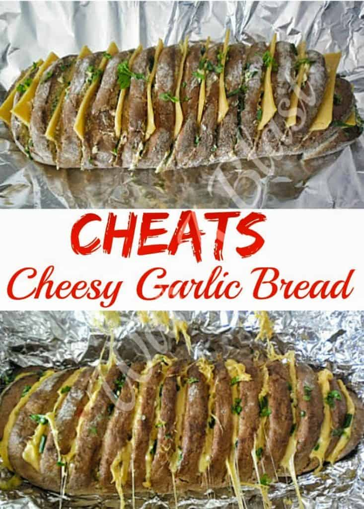 Turn a store-bought French loaf into a gooey delicious, Cheesy Garlic Bread quickly and easily - perfect side or appetizer for any occasion #GarlicBread #QuickBread