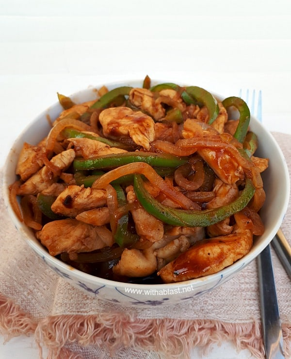 Almost Chinese Chicken takes only 25 Minutes - Prep to Serve ! Quick, delicious, sweet and sour chicken dinner which can be served over rice or noodles #ChickenRecipes #QuickChickenRecipes #ChineseChickenRecipes #EasyDinnerRecipes