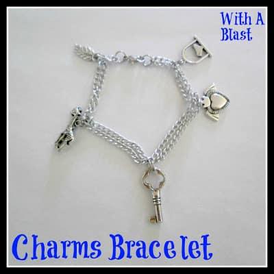 Charms Bracelet - Easy DIY www.withablast.net