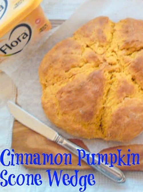 Cinnamon Pumpkin Scone Wedge