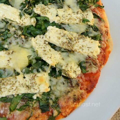 Feta and Spinach Pizza