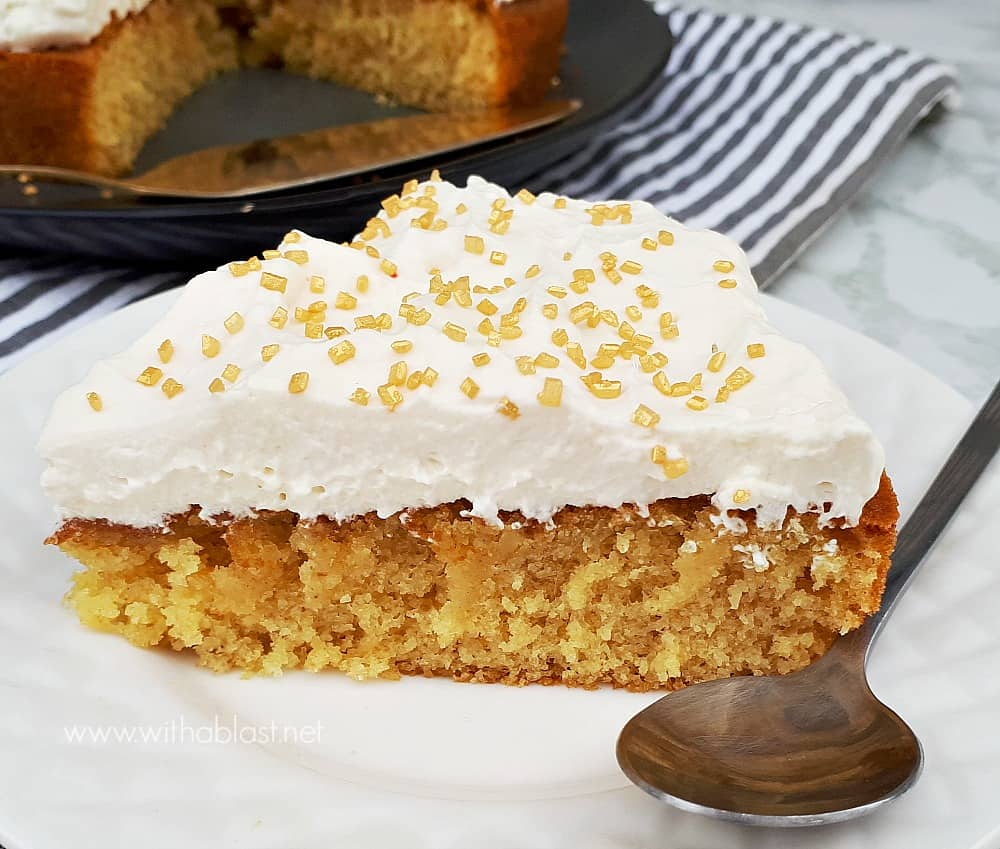 The perfect cake recipe for a moist Ginger Cream Cake - quick, easy and ideal to make for unexpected guests and always a tea time winner