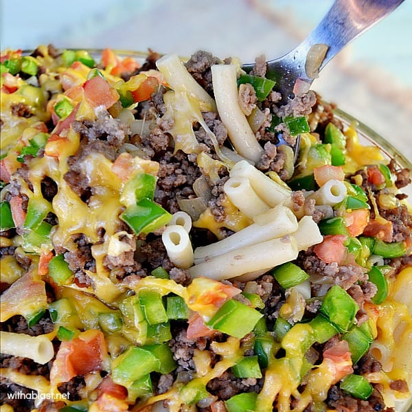 Quick, easy & delicious layered Pasta dish with a crunch !
