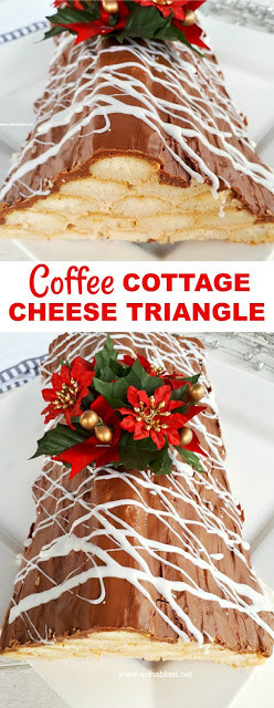 Coffee Cottage Cheese Triangle is a light dessert, perfect to end off a rich meal and ideal to adapt decorations for any occasion
