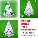 Paper Doily Tree Ornaments