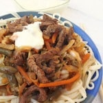 Beef Chow Mein with Sour Sauce