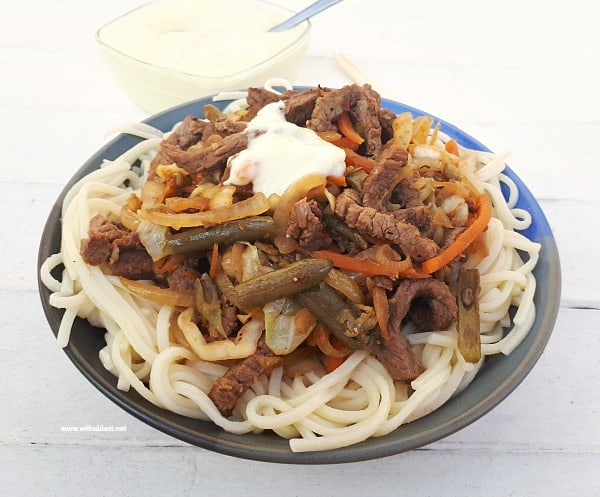 Beef Chow Mein with Sour Sauce is a 30 Minute ( 6 Servings ! ) homemade recipe - no need to order take outs !