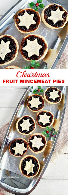 Sweet, fruity Traditional Christmas Fruit Mincemeat Pies - easy to make, easy to eat !