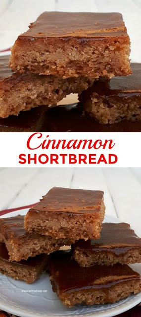 Buttery, melt-in-the-mouth Cinnamon Shortbread is a must to add to your Fall and/or Christmas baking list #ShortbreadRecipe #EasyShortbread #CinnamonShortbread #Cookies #CookieRecipes