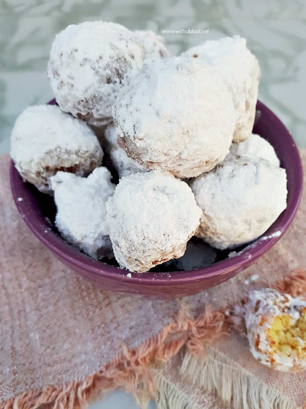 Italian Zeppole is the most delicious sweet treats ! Deep-fried dough, almost like a beignet but much chewier and more dense - more of a Ricotta donut.