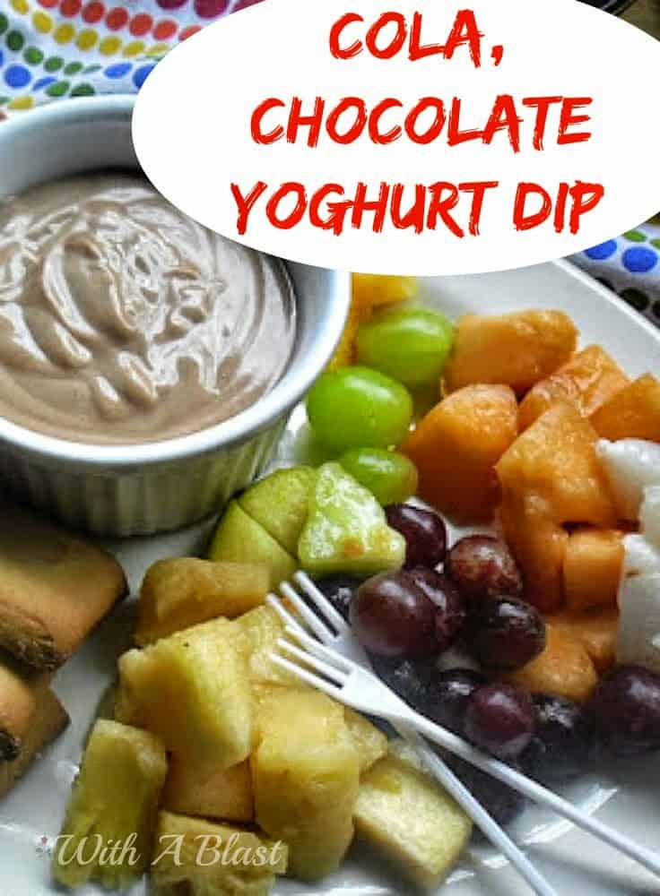 Cola Chocolate Yoghurt Dip ~ Delicious for dipping fruit and cookies #Dip #FruitDip #ColaDip