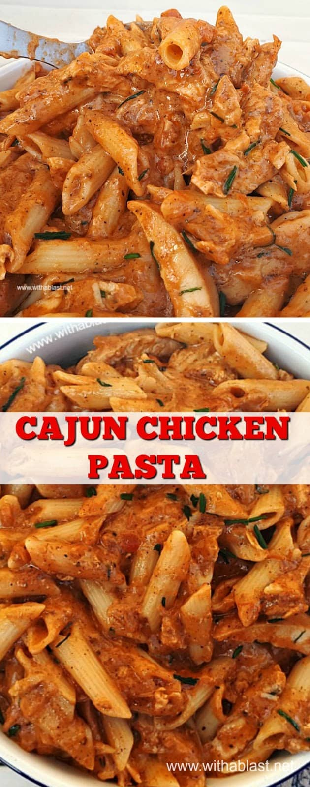 Lightly spiced, creamy Cajun Chicken Pasta makes a delicious, quick [20 minutes!] and easy dinner. Very filling and a wonderfully comforting dish !