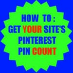Get Your Site's Pin Count