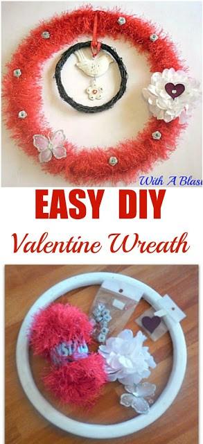 Easy DIY Valentine Wreath
