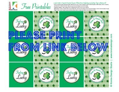 Saint Patrick's Day Printable toppers