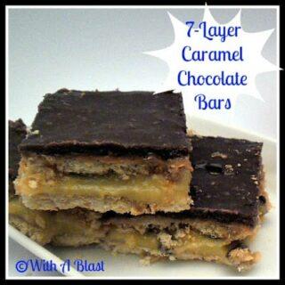 7-Layer Caramel Chocolate Bars