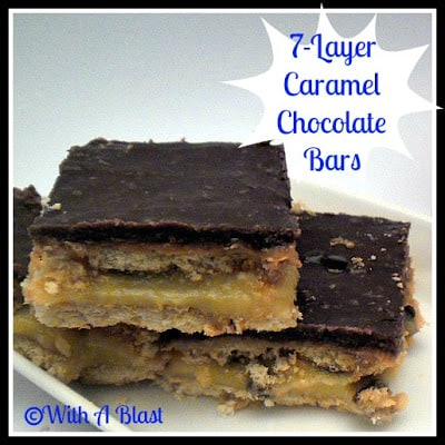 7-Layer Caramel Chocolate Bars