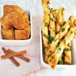 Cinnamon Sugar Bites AND Parmesan Garlic Straws