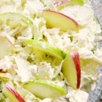 Apple Cabbage and Cottage Cheese Salad