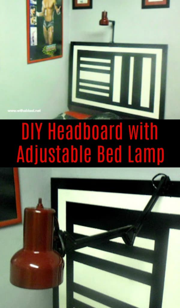 Diy Headboard With Adjustable Bed Lamp With A Blast