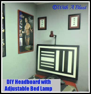 DIY Headboard with Adjustable Bed Lamp