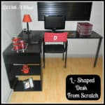 L-Shaped Desk From Scratch