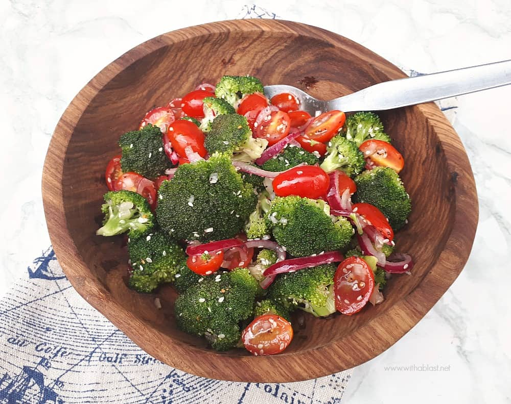 Marinated Broccoli Salad is a crunchy, delicious salad and a definite must-have recipe for especially Broccoli lovers [make-ahead friendly recipe]