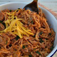 One-Pot Beef Spaghetti