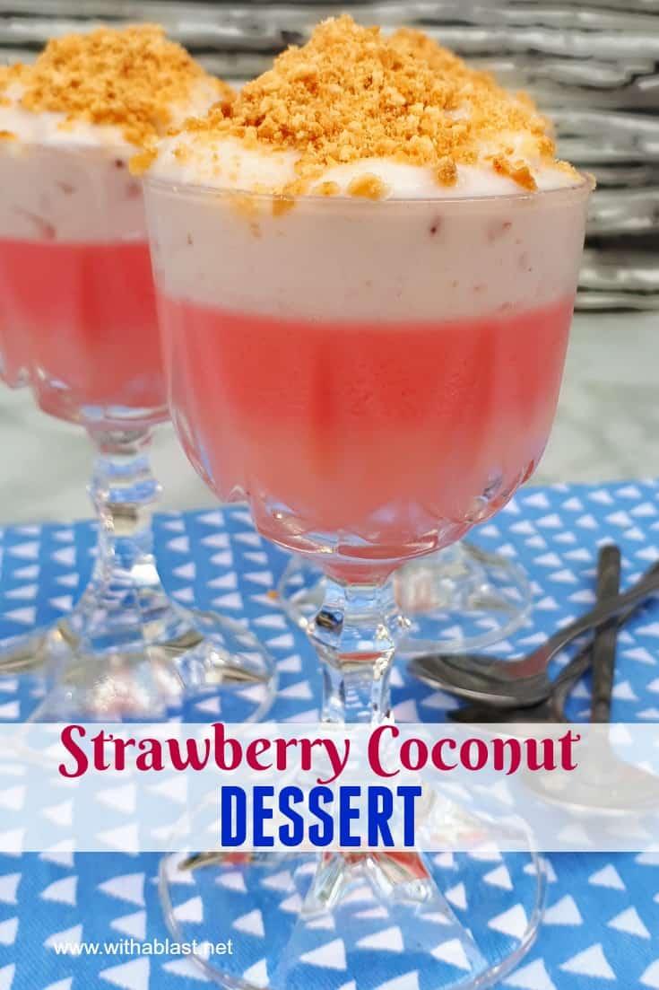 Strawberry Coconut Dessert