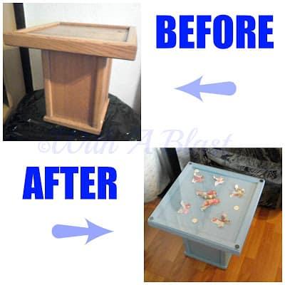 With A Blast: Before/After 3D Butterfly Side Table   #diy   #crafts   #furniturepainting