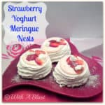 Strawberry Yoghurt Meringue Nests