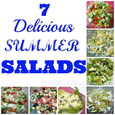 With A Blast: 7 Delicious SUMMER Salads   {all light & refreshing salads}   #salads  #summer