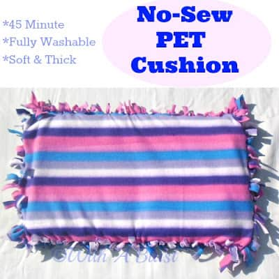 No-Sew Pet Cushion ~ Soft and thick ~ 45 minutes to make ! #NoSew #PetCushion #Pets
