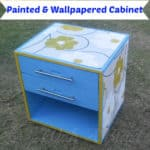 Painted & Wallpapered Cabinet
