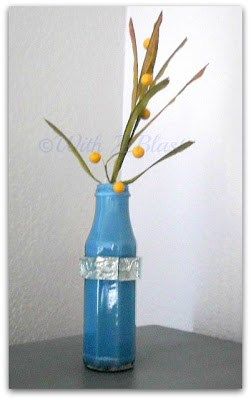 Painted and Embellished Decor Accents ~ DIY empty containers with paint etc into lovely vases/potplants #Crafts #Vases