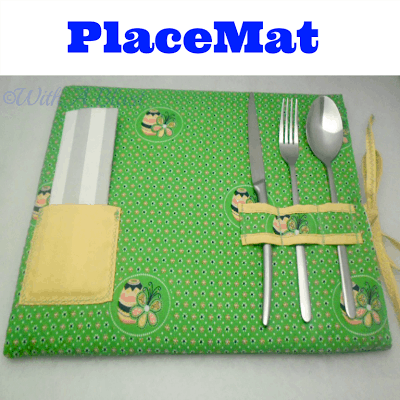 PlaceMat and LapTray in One ~ Easy DIY ~ Must have for Summer - use as a lap tray or a place mat ! #LapTray #PlaceMat #DIY